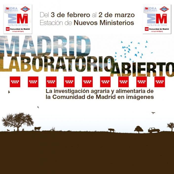 Cartel de la Exposición fotográfica sobre investigación agraria en Madrid
