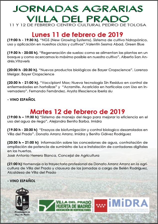 Jornadas Agrarias Villa del Prado, 11-12 de febrero de 2019